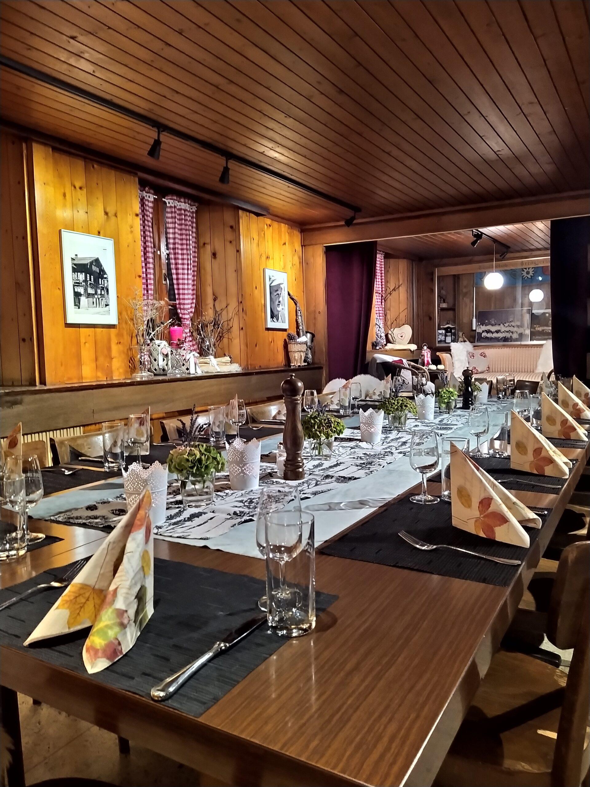 Restaurant Grängjerstuba Grengiols Walliser Spezialitäten Aletsch Goms event lokal